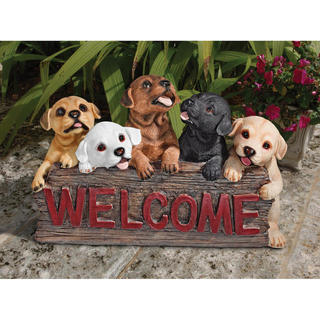 Puppy Parade Welcome sign