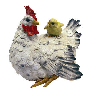 Barnyard Mother Hen & Baby Chick