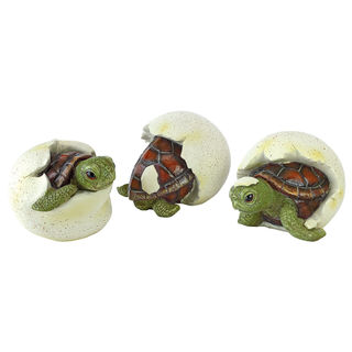 Out of the Shell Baby Turtle Triplet Statues