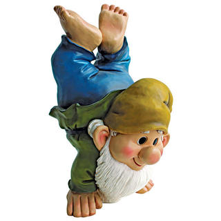 Handstand Henry, the Garden Gnome