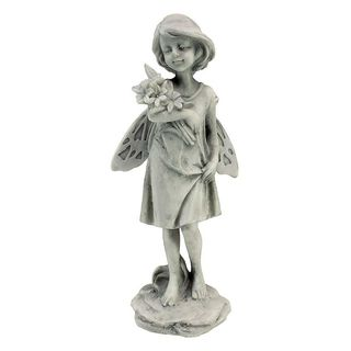 Rose Garden Fairy with Flowers Statue