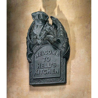 Hell's Kitchen Sculptural Dragon Wall Plaque