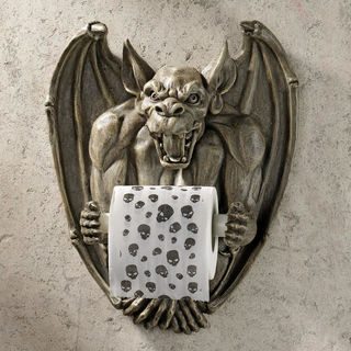 Flush the Gargoyle Gothic Toilet Paper Holder
